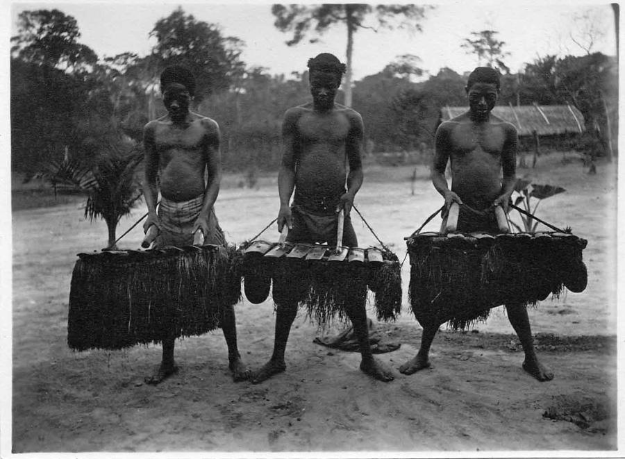 Xylophone ensemble from Cameroon circa 1914